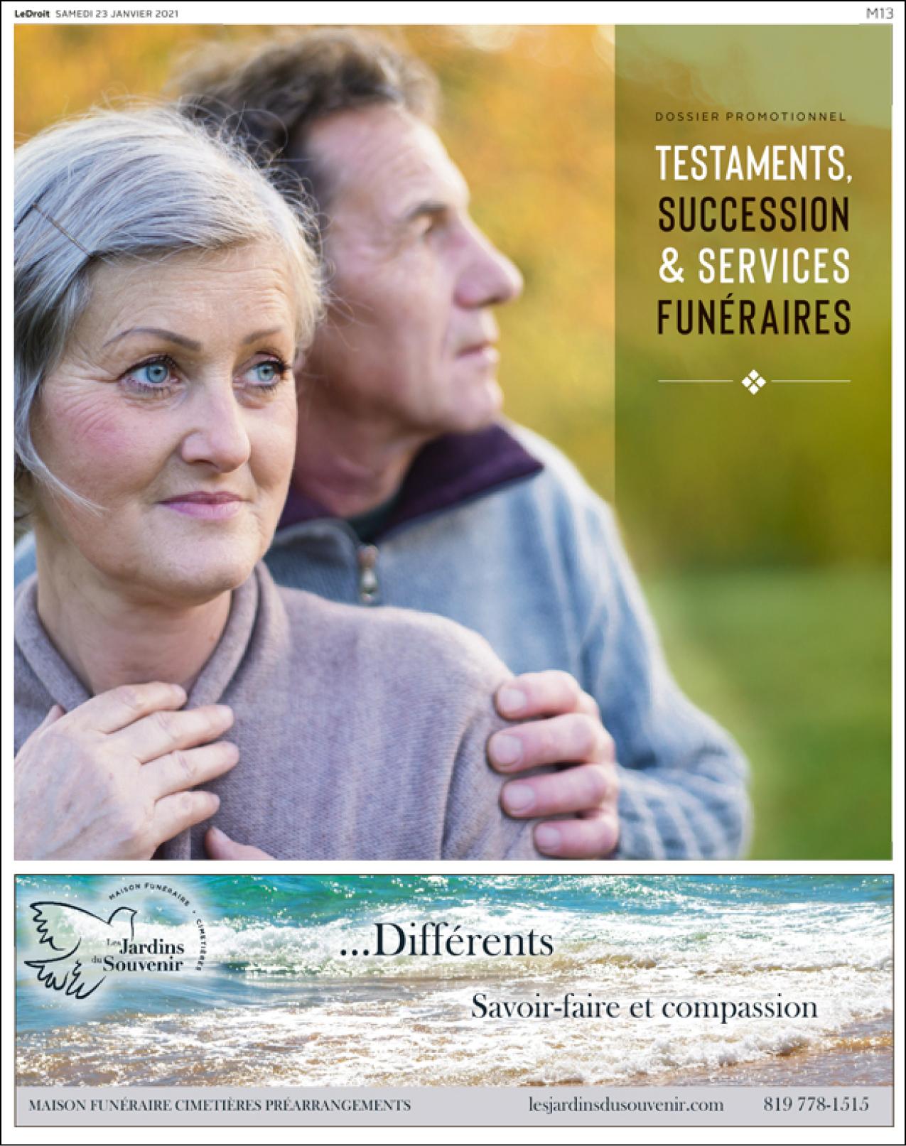 Cover Testaments succession & servivces sunéraires